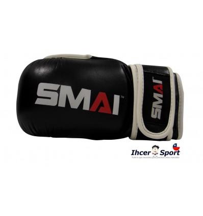 SMAI GUANTE MMA NEGRO CUERO PROFESIONAL